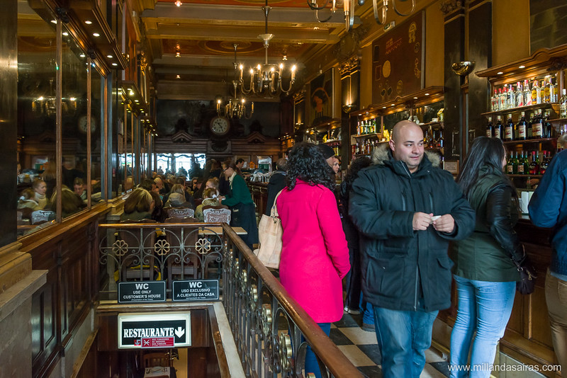 Café A Brasileira, en Chiado