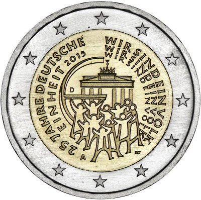 *2 Euro Nemecko 2015 J, Zjednotenie Nemecka