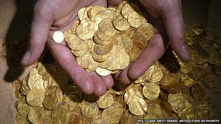 Isreali gold coin hoard find