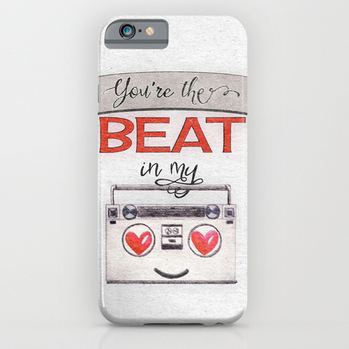You're the Beat in My Boombox - phone case by Squibble Design on Society6