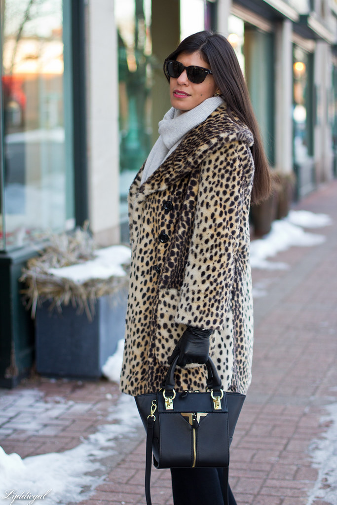 leopard coat, flared jeans, grey scarf-4.jpg