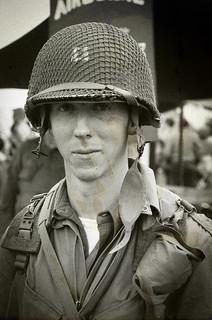 US Army 504 Airborne reenactor
