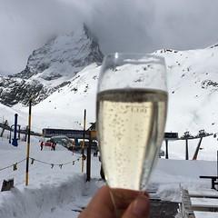 Matterhorn/champagne selfie. #nofilter