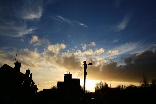 houses sunset sky house silhouette clouds tramonto dusk cielo calverton