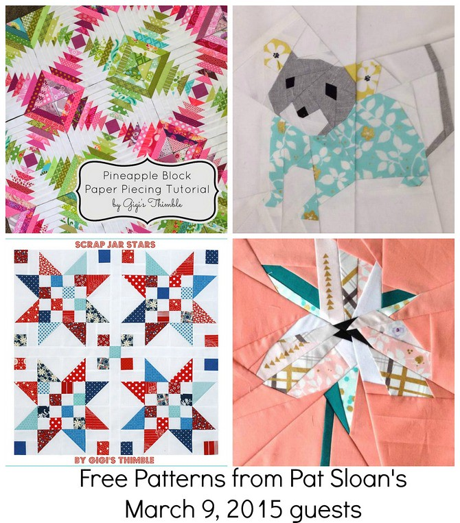 pat sloan mar 9 free patterns