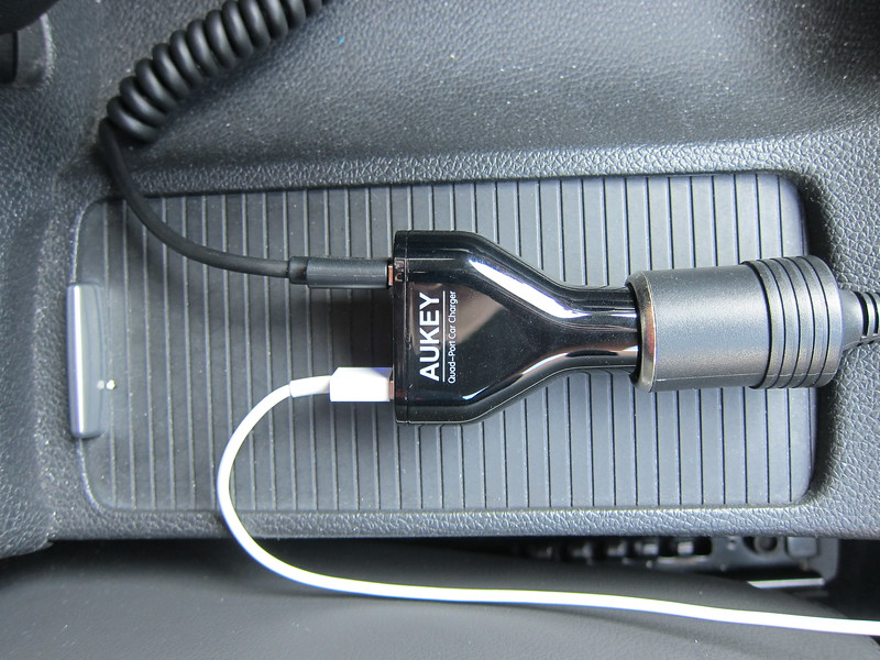 Aukey 48W 9.6A 4-Port Car Charger - In Car