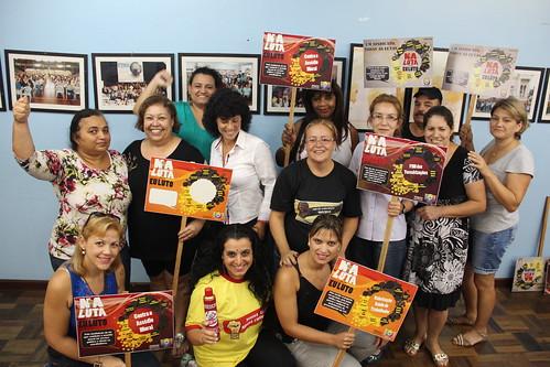 Delegados sindicais na campanha #nalutaeuluto!