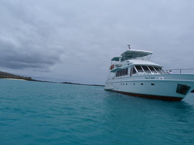 Barco de islas Galápagos