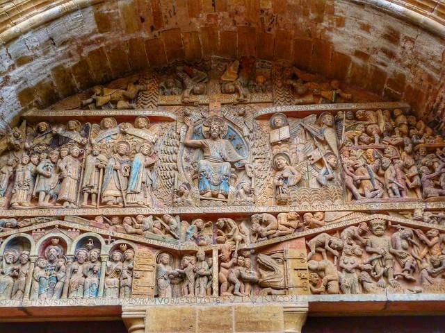 Tímpano de la abadía de Santa Fe (Conques)