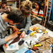 glueing fish leather