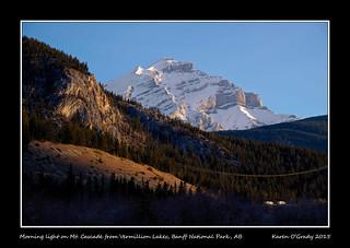 Morning light on Mt. Cascade from Vermillion Lakes, Banff National Park, Alberta