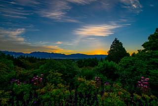 Sunrise over Queen Elizabeth Park