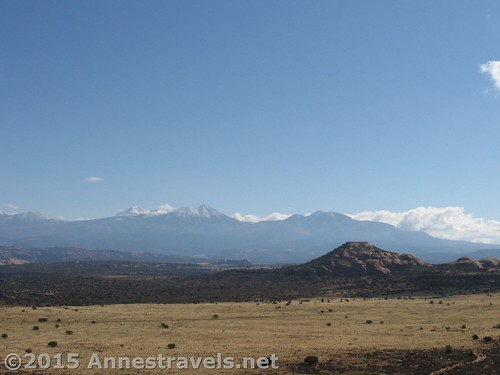 Views to the La Sal Mountains from Miner Overlook, Canyon Rims Recreation Area, Utah