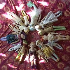 A dolly mandala in the morning light ✨ #littledear #etsy #handmade #handmadedoll #clothdoll #dollmaker #handembroidery #mandala #dollylove #clothdollcollection