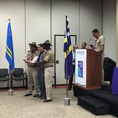 #ScoutsAruba #ScoutsCuracao recognition to @raulsanchezvaca. #ScoutIAR.  #IASCHTX #InteramericanScoutConference #IARSC26 #ConferenciaScoutInteramericana #SMJoseTexas
