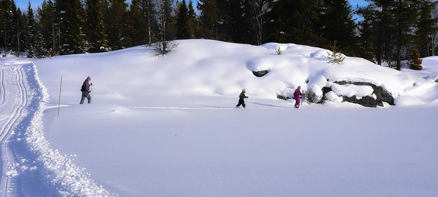 Cross country skiing in Valdres, Norway