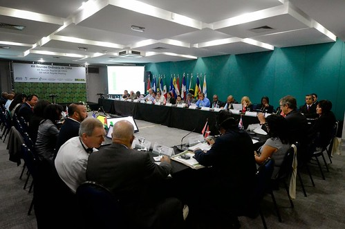 The primary purpose of the trip to Brasilia was to participate in the Regular Meeting of the Market Information for the Organization of the Americas (MIOA), which brings together a network of 33 member countries to collect, process, analyze, and disseminate information relative to markets and agricultural commodities. Photo Courtesy of Francisco Stuckert, CONAB.