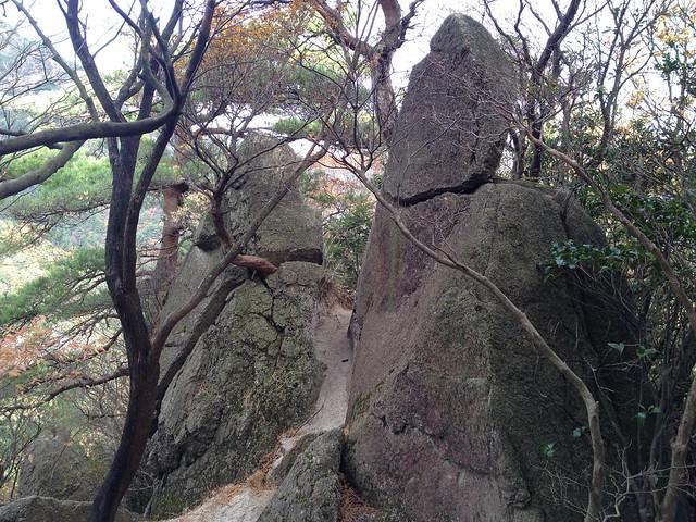 鎌ヶ岳 長石尾根 石門