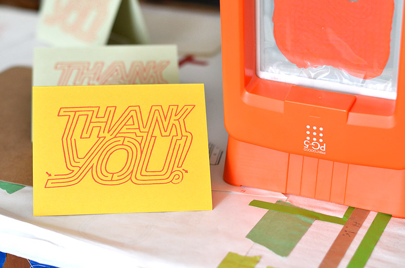 gocco printing thank you cards