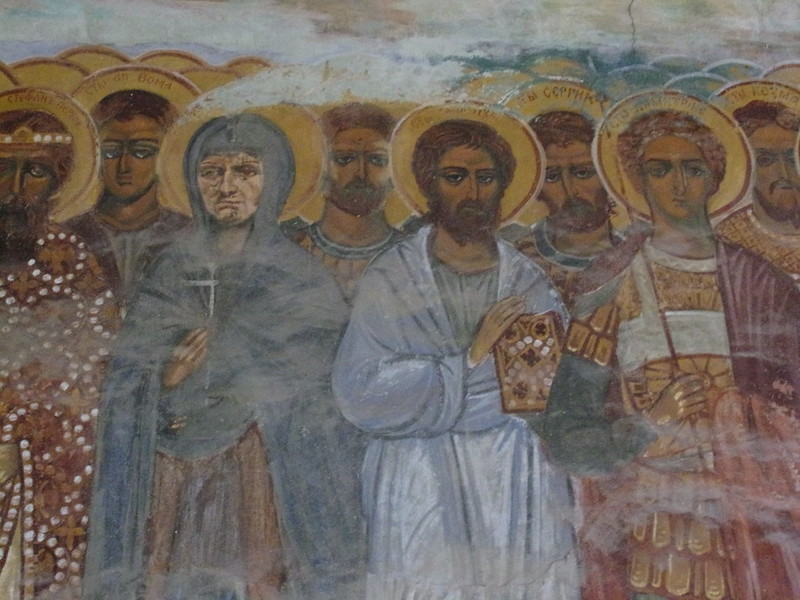 14th Century Prophets and Saints, entryway, Zica Monastery