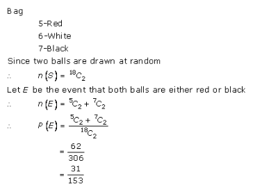 RD-Sharma-class-11 Solutions-Chapter-33-Probability-Ex-33.3-Q-31