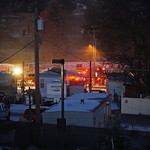 Structure Fire at Pinecroft Mobile Home Community