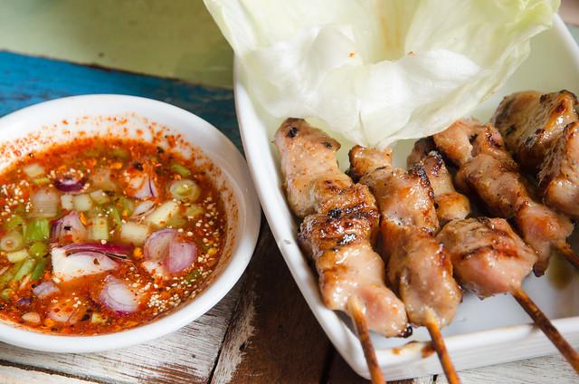 Moo Ping Porki BBQ (Barbecued Pork at The Porki Society at Sea Park, Petaling Jaya, an Extraordinary Thai Kitchen