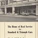 W. J. Coe Ltd, Ipswich Standard/Triumph ad 1960