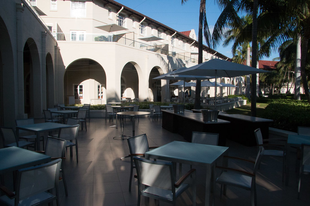 Outdoor dining at Casa Marina Key West