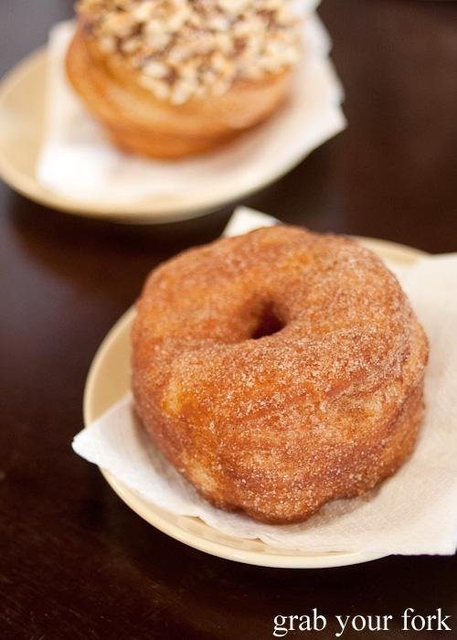 Cinnamon brewnut cronut at Brewtown Newtown