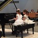 Elaine and Stella during their piano duet performance