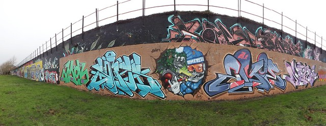 Street art and graffiti at Sevenoaks Park