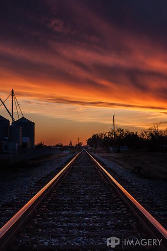 railroad sunset rural train track crossing kentucky ky tracks rail rr owensboro