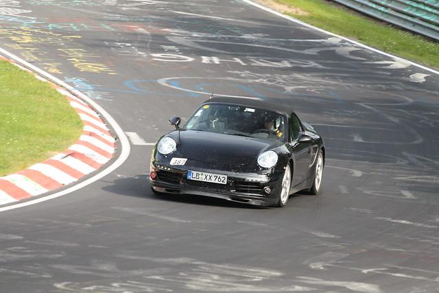 Porsche 911 Cabrio test mule 1