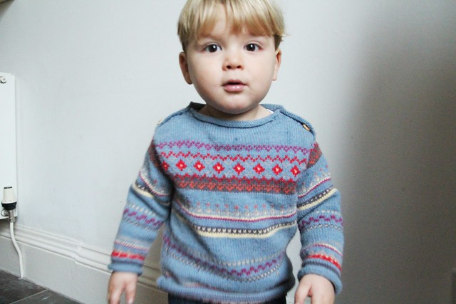 colourwork baby jumper