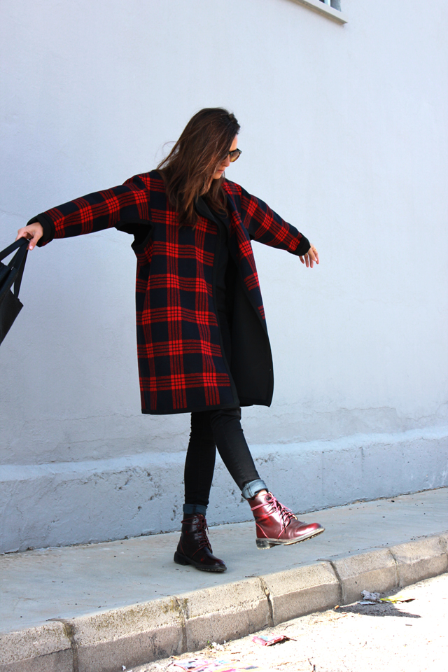 plaid coat coohuco 7