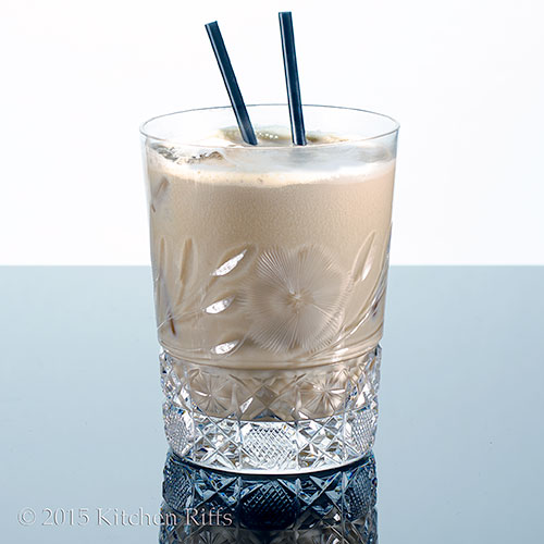 White Russian Cocktail in rocks glass