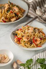 Shrimp Fettuccine with Garlic and Sundried Tomatoe…