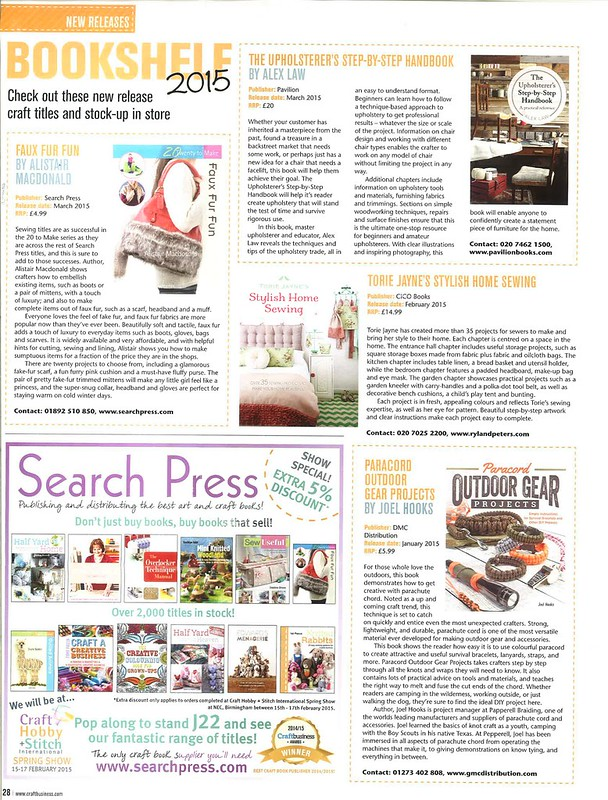 Stylish Home Sewing Craft Business February 2015