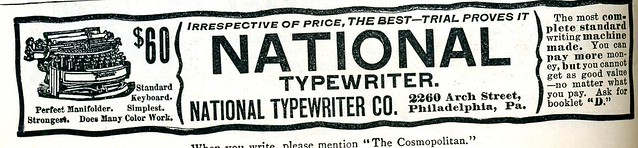 National Typewriter 1896