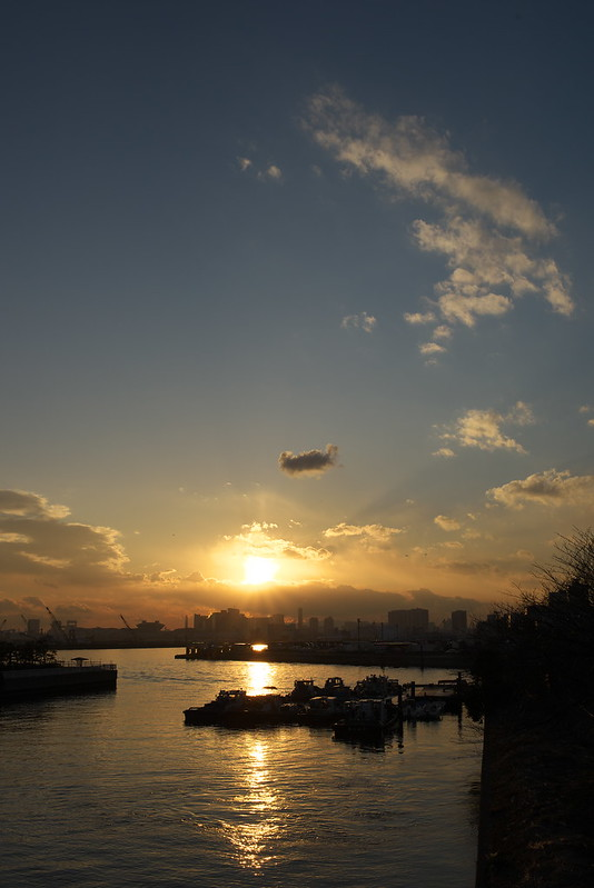 東京路地裏散歩 東京湾の夕暮れ 2015年2月9日