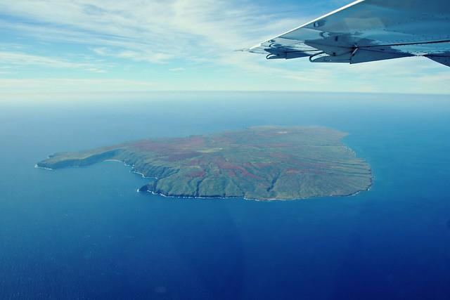 Kahoolawe, Hawaii lentokoneesta