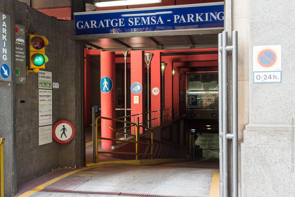 Подземный гараж в Барселоне