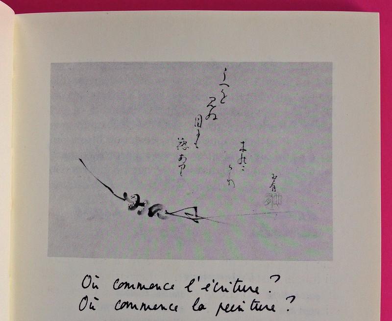Roland Barthes, L'impero dei segni. Einaudi 1984. Illustrazione b/n nel corpo del testo; le didascalie riproducono la grafia dell'autore, a pag. 27 (part.), 1