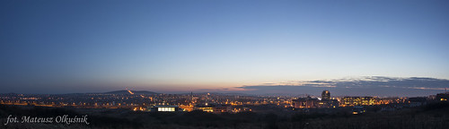 sunset panorama night town nikon poland manfrotto kielce d3200 olekgraf