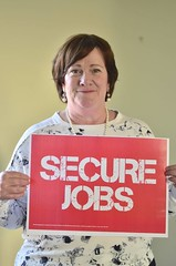Supporting the Unions Together campaign for secure jobs