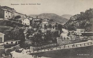 Ascoli com'era: Acquasanta Terme, strada allo stabilimento bagni (<1924)