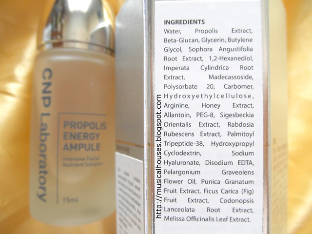 CNP Propolis Energy Ampoule Ingredients