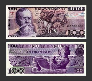 Mexico 100 Pesos - 1980s