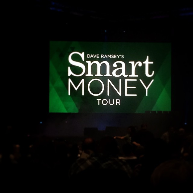 Here with @joshua300td and my fellow #FPU coordinators to see @daveramsey and #ChrisHogan for the #SmartMoneyTour! So excited! Can't believe one year ago Joshua and I were just getting to know this Dave Ramsey guy and now he's such a big part of our lives